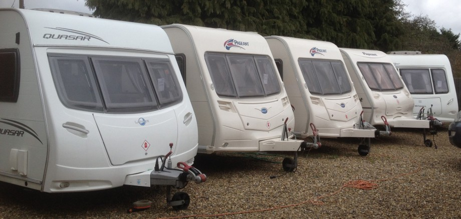 Sales Caravans Lined Up